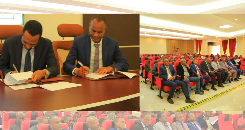 Ethiopia roads autority agreement sign picture