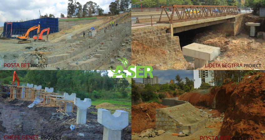 Addis Ababa riverside green devlopment &river crossing steel bridge project 29%  news-